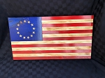 Betsy Ross Rustic Wood American Flag